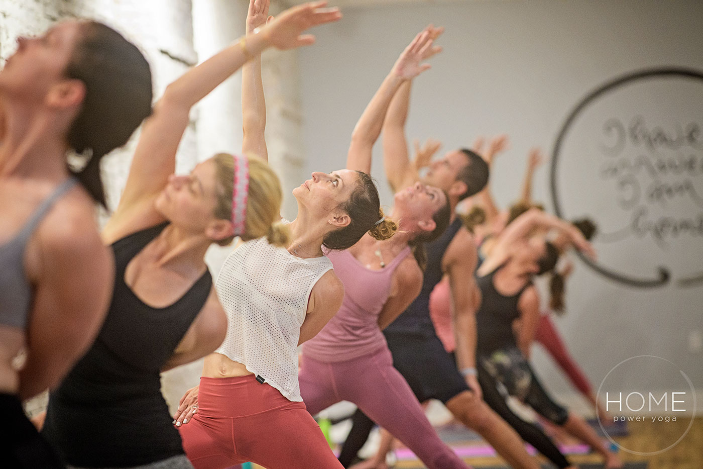 The first class at Home Power Yoga
